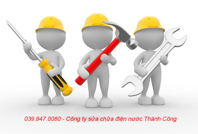 Đội ngũ thợ sửa điện nước chuyên nghiệp