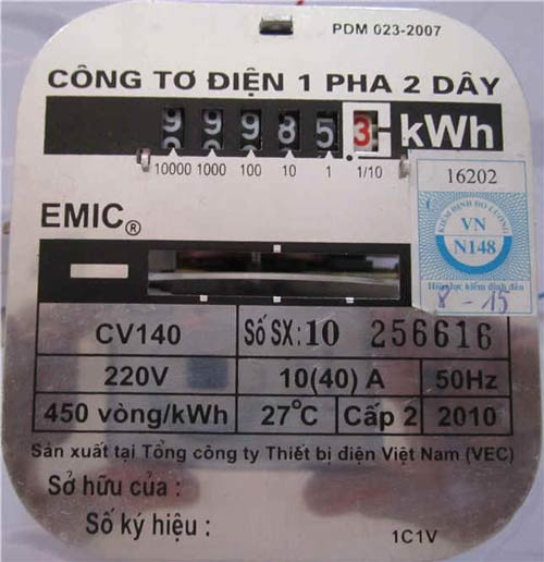 Ý nghĩa các thông số trên mặt đồng hồ điện