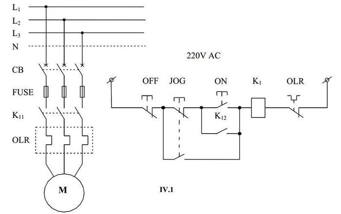 Sơ đồ mạch điện khởi động động cơ có thử nháp