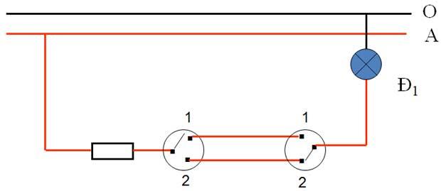 sơ đồ nguyên lý mạch điện cầu thang