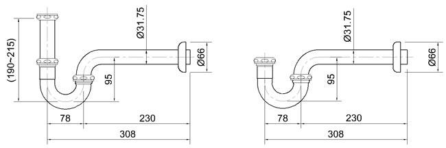 Kích thước của ống xi phông
