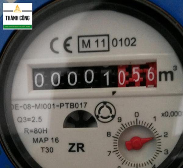 Đồng hồ đo nước loại 8 số