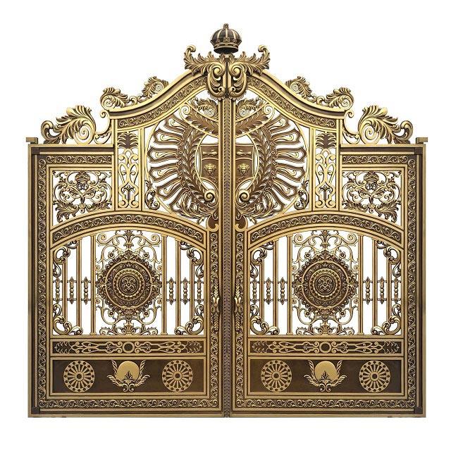 Cổng nhôm đúc được làm bằng chất liệu hợp kim nhôm