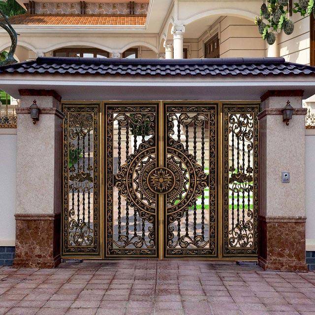 Cổng nhôm đúc thiết kế theo kiểu dáng hiện đại